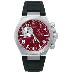Swiss Army Men's 'Convoy' Chrono Red Dial Rubber Strap Watch