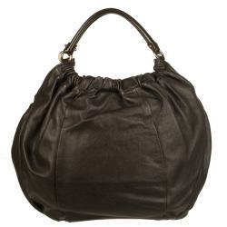 Salvatore Ferragamo Dark Brown Shopper Handbag