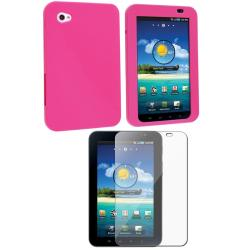 Pink Case/ Screen Protector for Samsung Galaxy Tab P1000 7-inch
