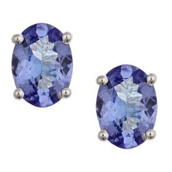 D'Yach 14k White Gold Tanzanite Earrings