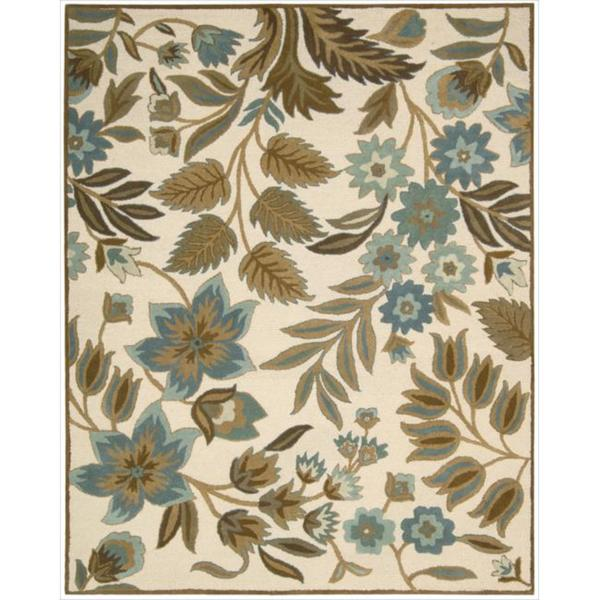 Hand-tufted In Bloom Ivory Wool Rug (5'3 x 7'4)