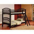 Arched Esprit Black Finish Twin Bunk Bed