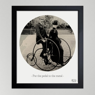Oliver Gal 'Pedal To The Metal' Framed Print Art