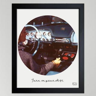 Oliver Gal 'Turn On Your Hi-Fi' Framed Wall Art