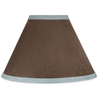 Sweet JoJo Designs Soho Blue and Brown Microsuede Lamp Shade