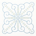 "Stamped White Quilt Blocks 18""X18"" 6/Pkg-XX & Daisies"