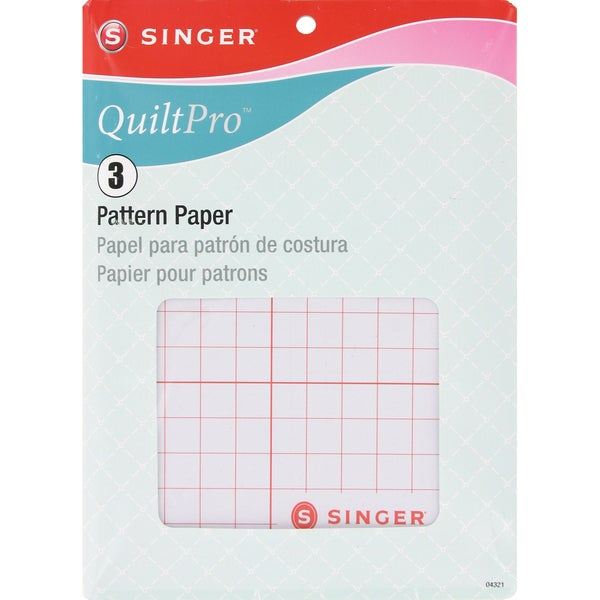 """QuiltPro Pattern Paper-22-1/2""""X27-1/2"""" 3/Pkg"""