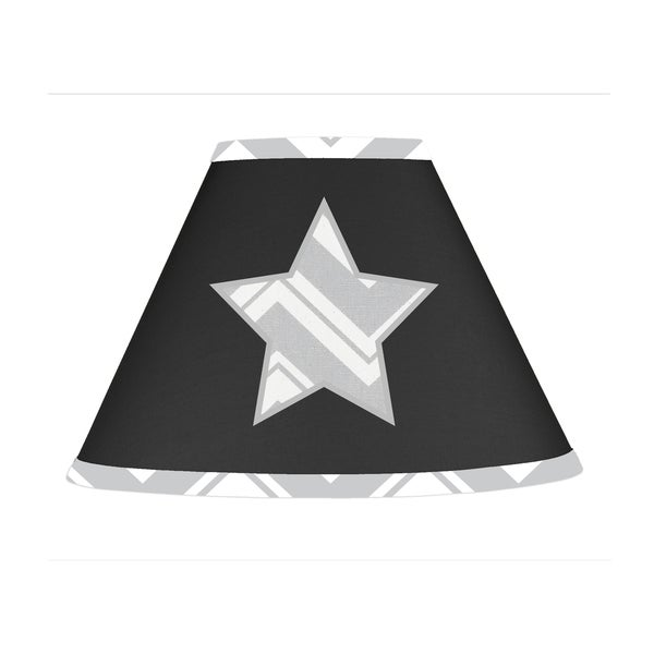 Sweet JoJo Designs Black and Grey Zig Zag Lamp Shade