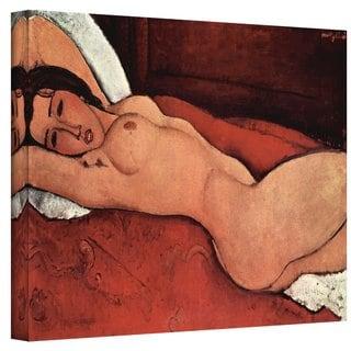 Amedeo Modigliani 'Portrait of a Nude' Wrapped Canvas Art