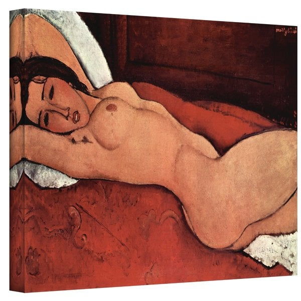 Amedeo Modigliani 'Portrait of a Nude' Wrapped Canvas Art 10464945