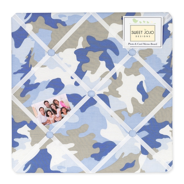 Sweet JoJo Designs Blue and Khaki Camo Bulletin Board