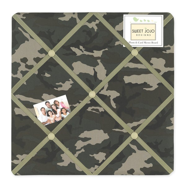 Sweet JoJo Designs Green Camo Fabric Bulletin Board