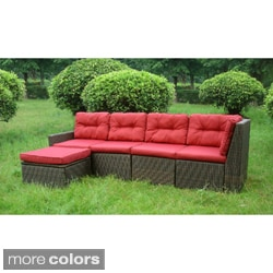 San Sebastian 5-piece Resin Wicker Outdoor Sectional Set
