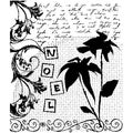 "Penny Black Mounted Rubber Stamp 3.5""X4""-Christmas Montage"