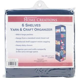 "6 Shelf Yarn & Craft Organizer 48""X11""X11""-Navy"