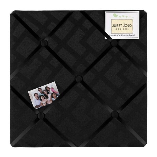 Sweet JoJo Designs Black Diamond Jacquard Bulletin Board