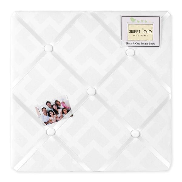 Sweet JoJo Designs Diamond Jacquard White Fabric Memory Board