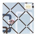 Sweet JoJo Designs Blue and Brown Geo Fabric Bulletin Board