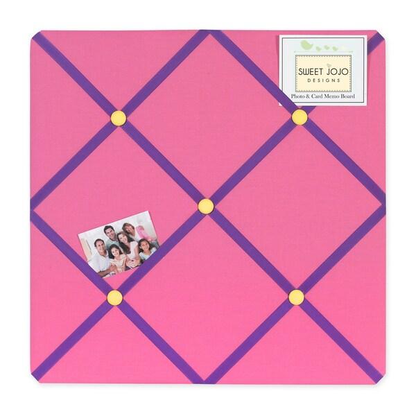 Sweet JoJo Designs Groovy Pink Fabric Memory Board