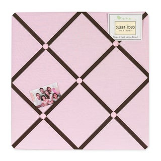 Sweet JoJo Designs Pink and Brown Hotel Memory Board