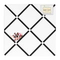 Sweet JoJo Designs Hotel White and Black Fabric Memory Board