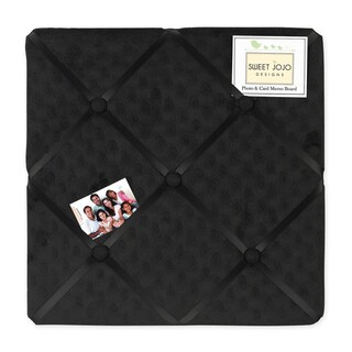 Sweet JoJo Designs Minky Solid Black Dot Fabric Memory Board