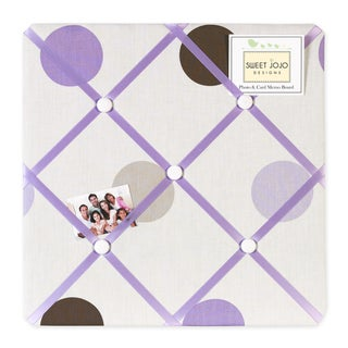 Sweet JoJo Designs Mod Dots Purple and Brown Fabric Memory Board