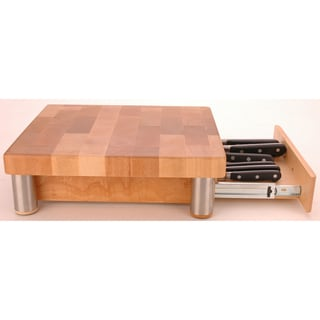 Miu France Maple Cutting Board with Knife Storage