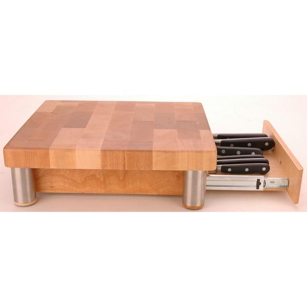 Miu France Maple Cutting Board with Knife Storage