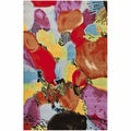 nuLOOM Handmade Modern Abstract Multi Wool Rug (5' x 8')