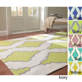 nuLOOM Handmade Swirls Trellis Wool Rug (7'6 x 9'6)