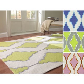 nuLOOM Handmade Swirls Trellis Wool Rug (8'6 x 11'6)
