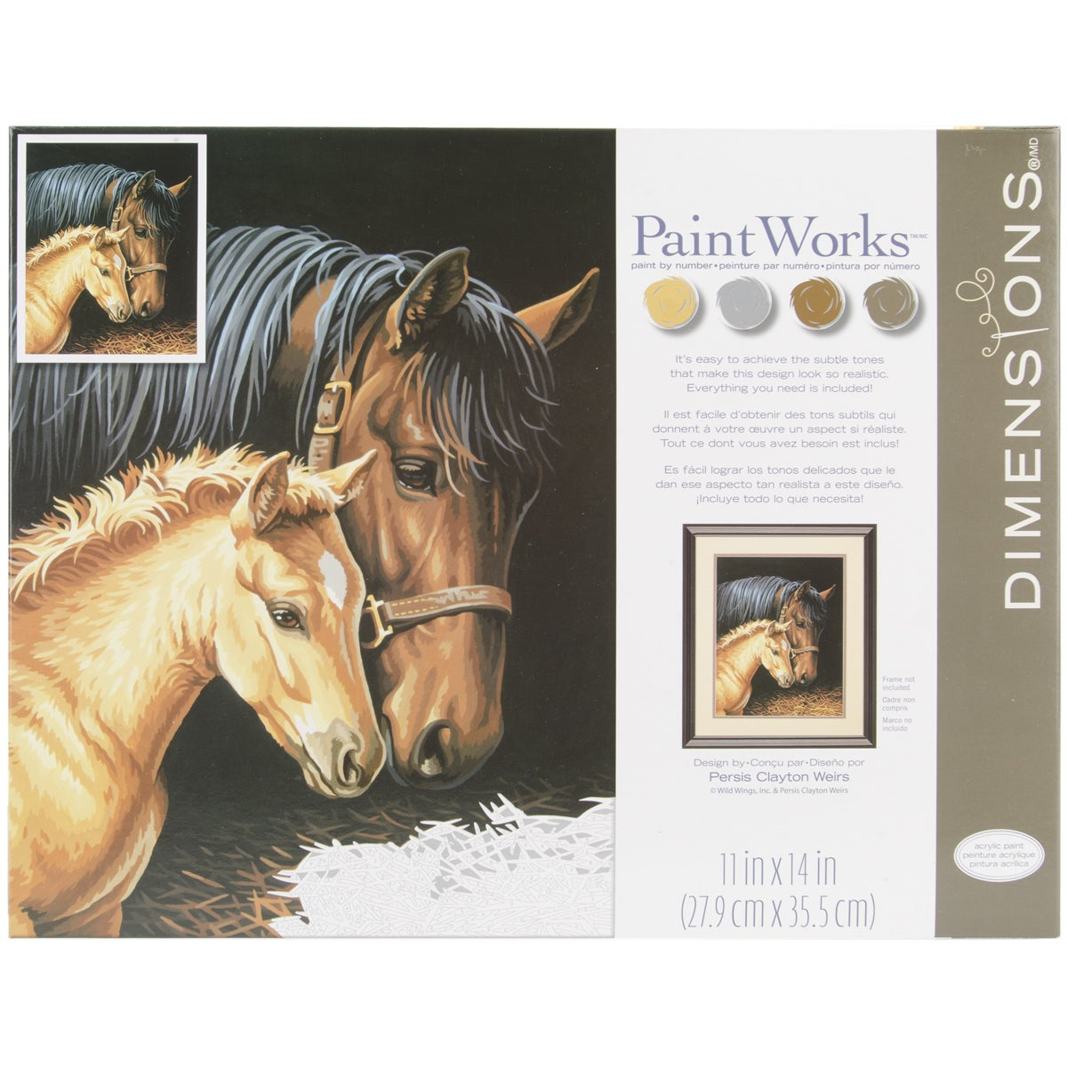 """Dimensions Paint By Number Kit 11""""X14""""-Gentle Touch at Sears.com"""