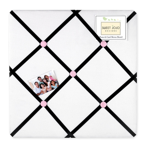 Sweet JoJo Designs Pink, Black and White Princess Bulletin Board