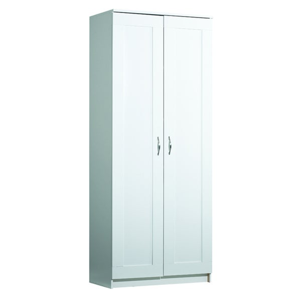 akadaHome White Laminate Storage Cabinet