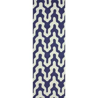 nuLOOM Handmade Modern Trellis Wool Runner Rug (2'6 x 10')