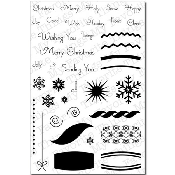 My Favorite Things Clear Stamp Set-Christmas Ornaments