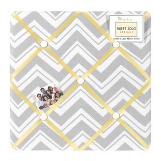 Sweet JoJo Designs Yellow and Grey Zig Zag Bulletin Board