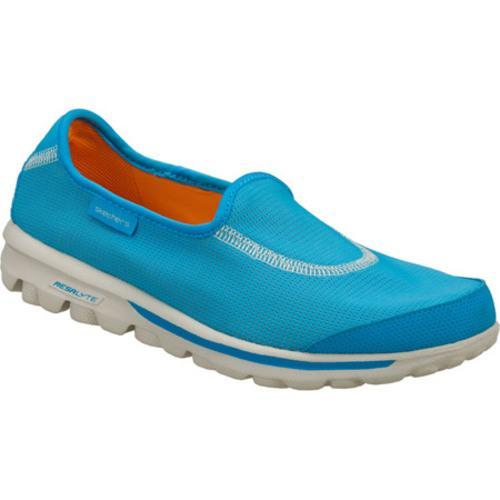 Women's Skechers GOrecovery Blue/Orange