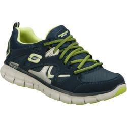 Women's Skechers Synergy Memory Sole Navy/Green