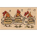 "Penny Black Mounted Rubber Stamp 2.5""X4.25""-Carolers"
