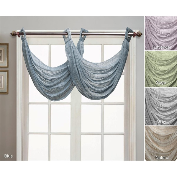 VCNY Bryce Collection Grommet-style Valance