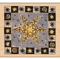 "Penny Black Mounted Rubber Stamp 3.5""X3.5""-Christmas Star"