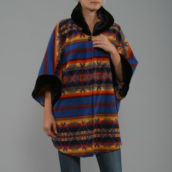 Black Mountain Woman's Dine Blue Poncho