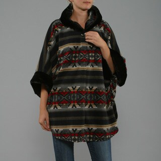 Black Mountain Women's Dine Black Poncho