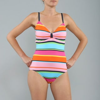 Anne Cole Multicolor Cabana Striped 1-piece Swimsuit