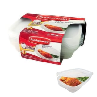 Rubbermaid 7F57 3-Piece Divided Containers