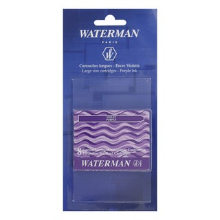 Waterman Fountain Pen Violet Ink Cartridges (Set of 8)