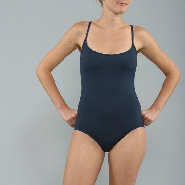 Anne Cole Navy Blue Lingerie Maillot 1-piece Swimsuit