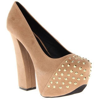 Fahrenheit Women's 'Anne' Studded Platform High Heels